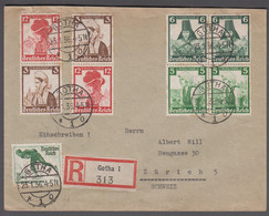 1936. DEUTSCHES REICH Deutsche Nothilfe. 4 Pair With Different Values + 6+4 Pf Olympi... (Michel 588+) - JF414634 - Covers & Documents