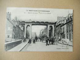 """Dept 22 Saint Brieuc Viaduc De La Rue De Gouéaic  """" écrite  """" La Bretagne Pittoresque ( Coll A Waron ) Belle Animation - Saint-Brieuc"""