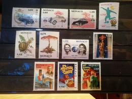 Monaco - N°2369 à 2372 + 2377 à 2383 - Neuf ** - Unused Stamps