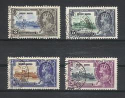 HONG KONG  /  Y. & T.  N° 132 à 135  POSTAGE & REVENUE  /  ROI  GEORGES  V  /  Série De 4 Timbres - Used Stamps