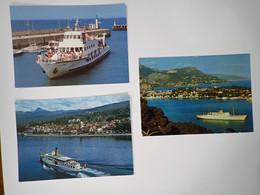 3 Cartes Postales Paquebot - Barche