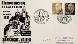 1957 España. Matasello. II Exposición Filatélica De San Cugat Del Valles - Briefmarkenausstellungen