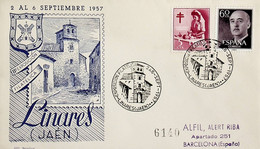 1957 España. Matasello. II Exposición Filatélica De Linares (Jaén) - Briefmarkenausstellungen