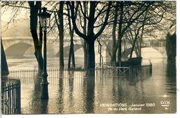 75001 PARIS - Inondations Janvier 1920 (un Peu Plus Rare Que 1910) - Île Du Vert Galant - Tirage Bromure - Distrito: 01