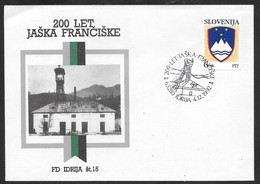 Slovenia: 1992 Commemorative Cover - Jaska Franciske Mine - Idrija Postmark - Slovenia