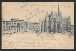 Italy - Milano Il Duomo - Posted To Novy Jicin Czech 1897 - Milano (Milan)