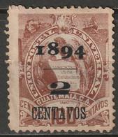 Guatemala 1894 Sc 52a  Used Narrow Date - Guatemala