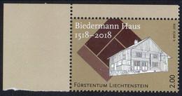Liechtenstein 2018. 500 Years Of The Biedermann House. Architecture. History.  MNH - Ongebruikt