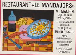 GARD ALES RESRAURANT LE MANDAJORS 17 RUE MANDAJORS EXPOSITION MORPHEE LE SOLEIL SUR LE PLAT 1980 ... - Alès
