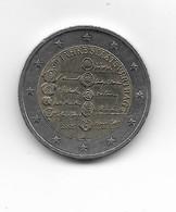 EURO AUTRICHE 2005 Pièce De 2 Euros 50 Ans Du Traité De L'Etat / De Circulation / Rare Sur D* (50 Jahre Staats Vertrag) - Austria