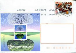 France 2009 - Bloc Souvenir Yvert &Tellier - Christian Broutin (o) Sur Enveloppe 116 X 142 - Autres
