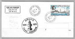 11 - TAAF - PO54 Du 1.1.1975 PORT-AUX-FRANCAIS KERGUELEN Sur Enveloppe Gaufrée TAAF - Première Date FDC. - Cartas