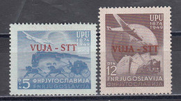 Triest B 1949 - 75 Years UPU, Mi-Nr. 22/23, MNH** - Ungebraucht