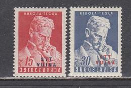 Triest B 1953 - Nikola Tesla, Mi-nr. 85/86, MNH** - Ungebraucht