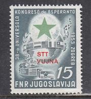 Triest B 1953 - Esperanto (I), Mi-Nr. 103, MNH** - Ungebraucht