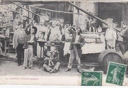 NAPOLI-COSTUMI POPOLARI-MANGIAMACCHERONI-CARTOLINA  VIAGGIATA IL 17-3-1909 - Torre Del Greco