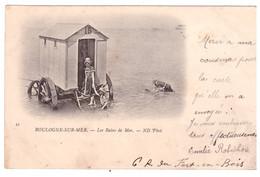 BOULOGNE  SUR MER - Les Bains De Mer (carte Animée) - Boulogne Sur Mer