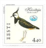 Estonia Estland - Lapwing Bird Stamp 2001 MNH - Estland