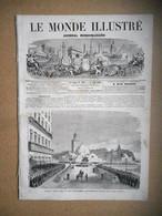 LE MONDE ILLUSTRE 01/06/ 1867 ALGERIE ALGER EPINAL FRANCS TIREURS EXPOSITION UNIVERSELLE TUNIS ARTS JAQUET HANOTEAU EPSO - 1850 - 1899