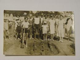 CARTE PHOTO ANIMEE CONCOURS CHATEAUX DE SABLE BEAU PLAN A LOCALISER - To Identify