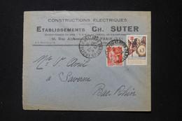 FRANCE - Enveloppe Commerciale De Paris Pour Saverne En 1936 Avec Vignette Contre La Tuberculose - L 88190 - 1921-1960: Modern Period