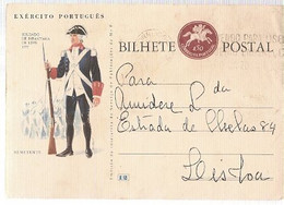 Portugal & Bilhete Postal, Uniforms Of The Portuguese Army, Lippe Infantryman 1977, Lisbon (2274) - Briefe U. Dokumente
