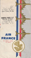 AIR FRANCE   Carton D'embarquement De Jean RUEFF  BOEING 707   CARAVELLE   ( Rare ) - Unclassified