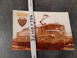 SNCF : Photo Originale 10 X 15 Cm : Baptème De La Locomotive BB 25251 VERSAILLES Le 30 Janvier 1975 - Treinen