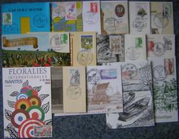 France 44 -  Marcophilie Lot De 48 Enveloppes Ou Cartes Oblitérations 1er Jour Ou Bureau Temporaire Illustré 1968-1999 - Commemorative Postmarks