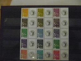 Feuillet De 15 Mariannes Du 14 Juillet 3688B à 3688R Neuf - LOGO CERES - Personalized Stamps