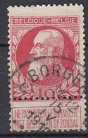BELGIË - OPB - 1905 - Nr 74 - T4 R (BORGERHOUT C) - COBA + 4.00 € - 1905 Thick Beard