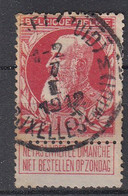 BELGIË - OPB - 1905 - Nr 74 - T4 R (BRUSSEL(ZUID)/BRUXELLES(MIDI) M) - COBA + 2.00 € - 1905 Thick Beard