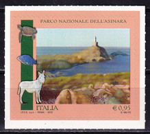 Italy 2015 Asinara National Park Fauna Donkey Fish Turtle Lighthouse 1v SA MNH - Fari