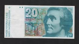 SVIZZERA / SUISSE / SWITZERLAND - NATIONAL BANK - 20 FRANCS / FRANKEN (H. De SAUSSURE ) - Svizzera