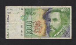 ESPANA / SPAIN / SPAGNA - BANCO De ESPANA - 1000 PESETAS (1992) - H. CORTES - [ 4] 1975-…: Juan Carlos I.