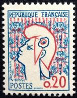 N° 1282   NEUF ** SANS  CHARNIÈRE ( LOT:1680 ) - 1961 Marianne De Cocteau