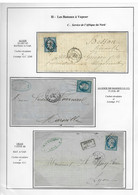 "Lettres N°22  Obl GC 2240 + Cad  ""Alger Bat A Vap"",n°14 OBL PC 1896 + CAD ""Algérie BB Marseille"" + N°22 OBL GC + CAD... - Posta Marittima"