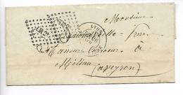 LYON Rhône CAD Type 18 Taxe Tampon 30 Annulée Par Grille LM2° Verso Ambulant LYON MARSEILLE + 20c Peu Courant     ..G - 1849-1876: Classic Period