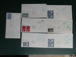 PASTIEKEN BAK 5/LOT71: 7 DOC. 1° VOL U.N. NEW YORK - Cartas