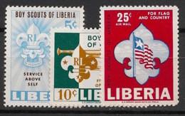 Liberia - 1965 - N°Yv. 399 à 400 + PA 147 - Scoutisme - Neuf Luxe ** / MNH / Postfrisch - Liberia