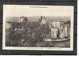 16-SAINT-GERMAIN-de-CONFOLENS-Une Vue Panoramique Des Vieilles TOURS Du Chateau Et De L'EGLISE - Otros Municipios