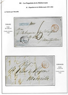 Lettres Avec CAD D'entée S: Tosc Marseille, Sard Marseille, D.Siciles Marseille, E.Pont. Marseille, Italie Marseille - Posta Marittima