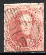 BE   5A    Obl   ---   Carmin Roe   --  Papier épais  --  70  Gosselies - 1849-1850 Medallions (3/5)