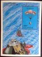 Uganda 1989 Moon Landing Anniversary Minisheet MNH - Uganda (1962-...)