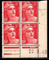Coin Daté Gandon N° 721A Du 22/3/1948 ** - 1940-1949