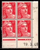 Coin Daté Gandon N° 721A Du 19/3/1948 ** - 1940-1949