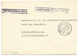 Sk1047 - WEISSENBURG (ELS) - 1941 - Franchise - Griffe DURCH DEUTSCHE DIENSPOST ELSASS - - Alsace Lorraine