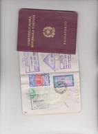 2 PASSAPORTI ITALIANI CON MARCHE FISCALI  CONSOLARIDA LIRE 4,000 + 5,000 + 10.000 + 20,000 - Revenue Stamps