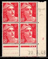 Coin Daté Gandon N° 721A Du 20/3/1948 ** - 1940-1949