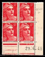 Coin Daté Gandon N° 721A Du 29/6/1948 ** - 1940-1949